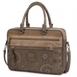 Lois Aktentasche 15 Für Damen Schultertasche Handtasche Umhängetasche Messenger Bag Laptoptasche 304439