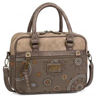 Lois Handtasche Für Damen Bowling Bag Schultertasche Umhängetasche Henkeltasche 304441