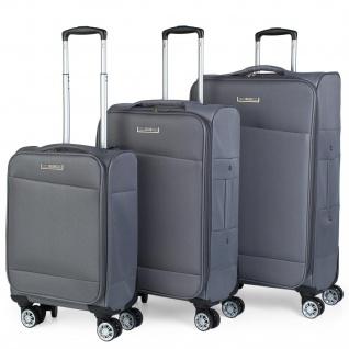 JASLEN 3Er Kofferset Erweiterbar 54/67/78 Cm EVA-Polyester. 4 Rollen. Kleine Koffer Genehmigt Für Ryanair, Mittlere Und Große. 101000