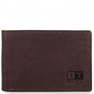 Leder Brieftasche. Horizontal. Geldbeutel, Kartenfächer. Ausweisdokument, Banknoten Und Münzen. 37908
