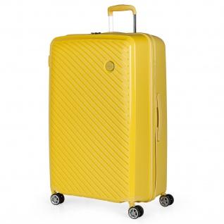 Itaca Großer Hartschale Reisekoffer 75Cm Aus Polypropylen. 4 Rollen. Reisegepäck. Koffer. TSA Hängeschloss. 760070