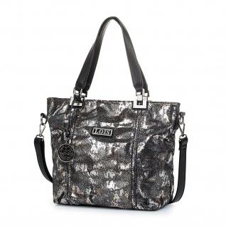 Lois Damen Umhängetasche Tote Bag Henkeltasche Handtasche Elegantes Design Schlangeneffekt 94981