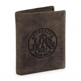 Lois Brieftasche Für Herren Leder Scheintasche Geldtasche Kartenhalter 12320