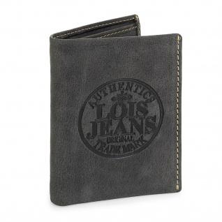 Lois Brieftasche Für Herren Leder Scheintasche Geldtasche Kartenhalter 12318