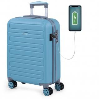 Hochwertig ABS Handgepäck. 4 Rollen. Praktisch, Bequem Und Leichter. USB-Anschluss In Der Kleinen Hängeschloss TSA. Klein Koffer. Hochwertiger Und Markenzeichen. 175050