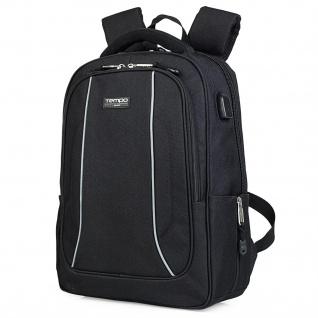 Tempo Lässiges Rucksack Für Herren. 15 Laptop. USB. Messenger Backpack. Tragetasche. Praktisch Und Bequem. Polyester. 801036