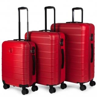 Itaca 3Er Hartschalen Kofferset 55/68/77 Cm ABS. 4 Rollen. Reisekoffer. Kleine Koffer Genehmigt Für Ryanair, Mittlere Und Grosse. T72100