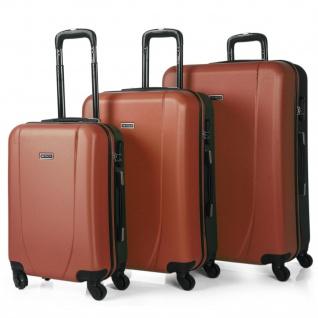 Itaca 3Er Kofferset 55/66/76 Cm ABS. 4 Rollen. Hartschalenkoffer. Reisekoffer. Reisegepäck. Hängeschloss. Koffer 71100
