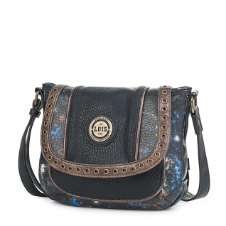 Umhängetasche Für Damen Klappeverschluss Cross-Body Bag Schultertasche Praktisch 95785