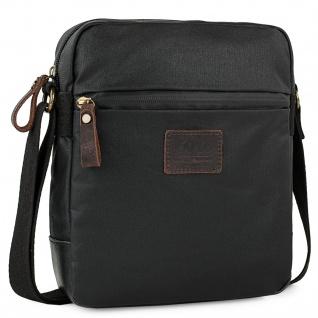 Tasche Kleiner, Kuriertasche Verstellbarer Für Männer. Aus Segeltuch Und Leder. Praktisch, Vielseitig, Leicht Und Funktionell. 307819
