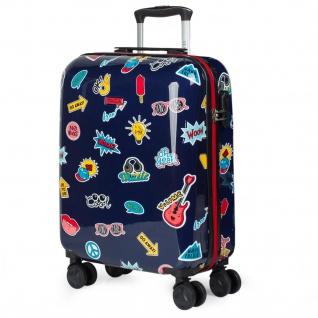 Itaca Kinderkoffer 4 Rollen Kabinengepäck Handgepäck Polycarbonat Reisekoffer Hartschale Koffer 702250 - Vorschau 1