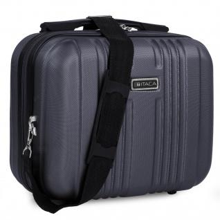 Itaca Hartschale Kosmetikkoffer. Kulturtasche. Reißverschluss. Trolleygestänge. Einziehbare Griff Und Umhängetasche. Reisegepäck. T71535