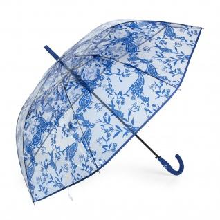Klassischer Clear Print Regenschirm. Automatische Öffnung. 8 Stäbe. Winddicht. Gebogener Handgriff. Verstärkte Struktur. Widerstandsfähig, Leicht Und Elegant 13108