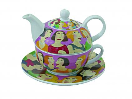 Abraham's Tea House -Set T-4-1 Kanne mit Tasse mit Unterteller