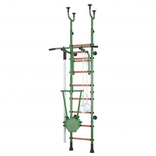Klettergerüst Sprossenwand Polini Sport Active Kombihalterung grün
