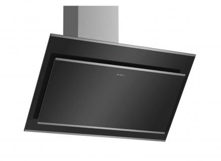 Bosch Serie 4 Wandesse 90 cm Klarglas schwarz bedruckt DWK97IM60