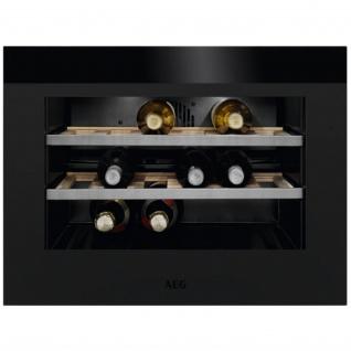 AEG KWK884520T Kompakter Weinkühlschrank / Touch-Bedienung / Temperaturanzeige / bis zu 18 Flaschen / Matt Black