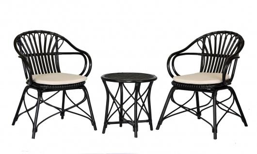 Rattan Tischgruppe mit 2 Stühlen A00000650