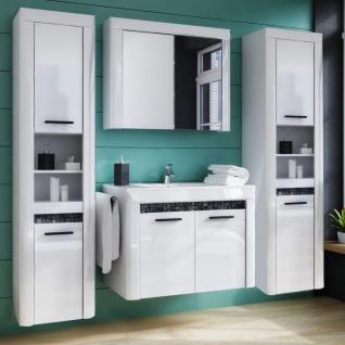 A&K 10.000 Home Collection Badezimmer-Set 5-teilig Mosaic mit Waschbecken