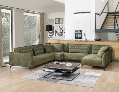 Primavera Moderne Wohnlandschaft Crete Texas 15 Olivgrün U-Form 361 cm breit - Vorschau 2
