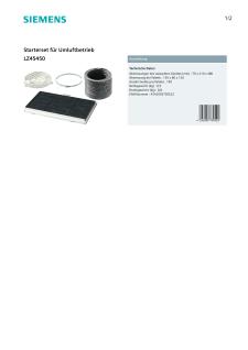 Siemens Starterset für Umluftbetrieb LZ45450 - Vorschau 2