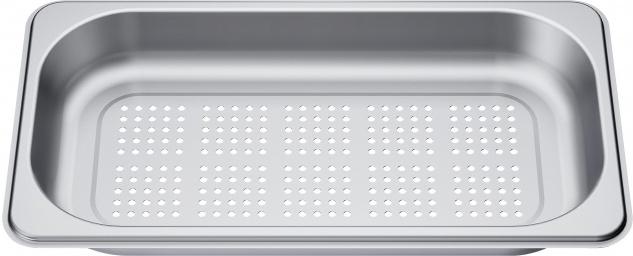 Bosch Dampfbehälter HEZ36D163G, Größe S, gelocht