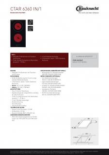 Bauknecht Kochfeld - CTAR 6360 IN/1 - Vorschau 5