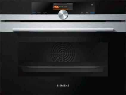 Siemens iQ700 Einbau Kompaktdampfbackofen Edelstahl CS656GBS2