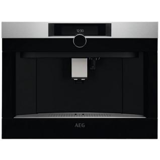 AEG KKK994500M Einbau-Kaffeemaschine mit Latte-Macchiato und Cappuccino-Funktion / TFT-Farbdisplay / Edelstahl mit Antifingerprint