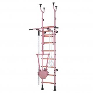 Klettergerüst Sprossenwand Polini Sport Active Kombihalterung rosa