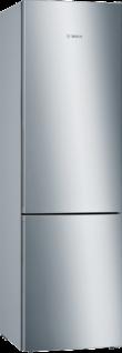 Bosch KGE39AICA Serie   6, Freistehende Kühl-Gefrier-Kombination mit Gefrierbereich unten, 201 x 60 cm, Edelstahl (mit Antifingerprint)