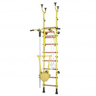 Klettergerüst Sprossenwand Polini Sport Active Kombihalterung gelb
