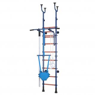 Klettergerüst Sprossenwand Polini Sport Active Kombihalterung blau