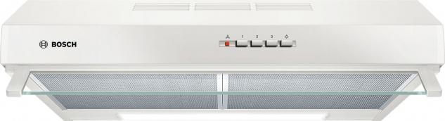 Bosch DUL63CC20 Unterbauhaube, Serie 4, 60 cm, weiß, Drucktastenschalter, Metallfettfilter