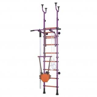 Klettergerüst Sprossenwand Polini Sport Active Kombihalterung violett