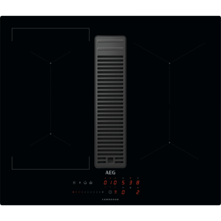 AEG ComboHob, Kochfeld mit Dunstabzug / 72cm / Induktion / Umluft / Touchbedienung Schwarz IDE74243IB
