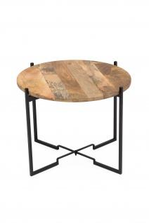 Couchtisch mit Holzplatte