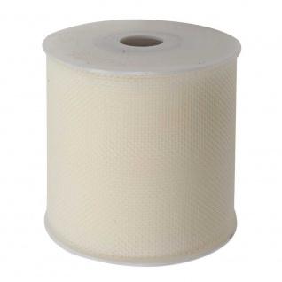 Tüllband, Schleifenband gewirkter Tüll 50mm creme 50m Rolle (1m=0, 10EUR) Goldina