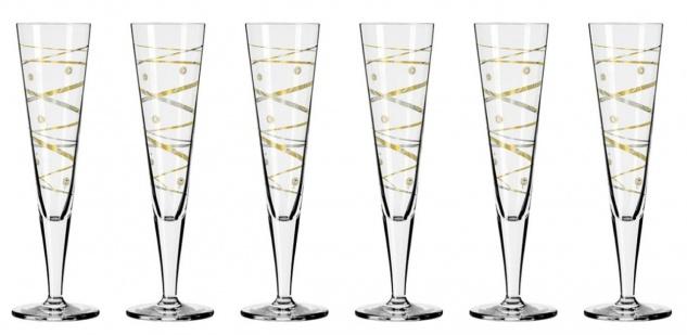 6er Set Ritzenhoff CHAMPUS Jahrgangs Champagnergläser 2021
