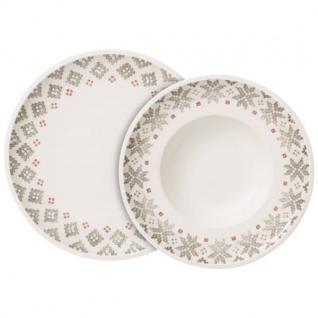 Dinner-Set 4 pers. Artesano Montagne weiß braun rot Porzellan Villeroy & Boch WA