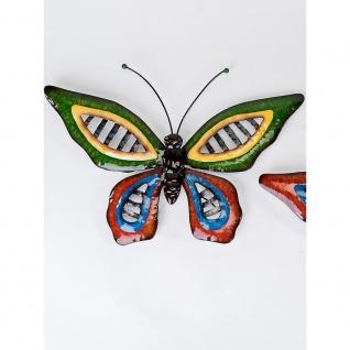 Wanddeko Metallbild Schmetterling VE, Metall bunt 60x40cm Formano WA