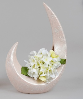 Deko Vase SPRINGTIME in Mondform 27x38cm rosa Keramik Formano F21
