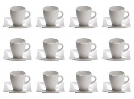 12er Set Tassen mit Untertasse EAST MEETS WEST für 170ml weiß Maxwell & Williams