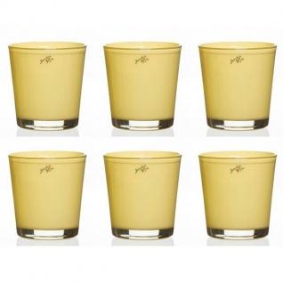 6er SET Orchideentöpfe ORCHID vanilla gelb H. 13, 5cm D.12, 5cm Sandra Rich