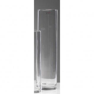 6er SET Blumenvasen Dekogläser CYLI zylindrisch rund H. 40cm D. 10cm Sandra Rich