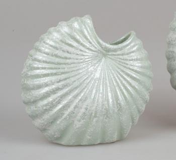 Deko Vase SPRINGTIME in Muschelform 21x21cm grün Keramik Formano F21