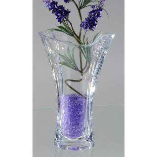 Kristallglas Vase, Glasvase SMILE, H. 25cm, Ø 15cm klar rund Formano