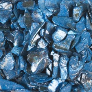 Perlmutt Dekosteine, Streudeko 10-20mm (1L=13, 90EUR) blau 500ml Dose EUROSAND