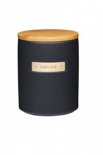 Zuckerdose MASTER CLASS schwarz für 1000ml mit Holzdeckel KitchenCraft