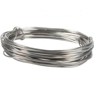Deko Basteldraht, Aluminiumdraht silber 3 Meter D. 2mm (0, 50â?¬/m)Season
